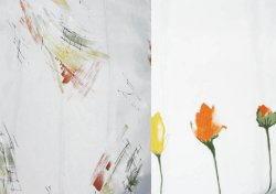 Voile orange – полупрозрачная вуаль с редким рисунком
