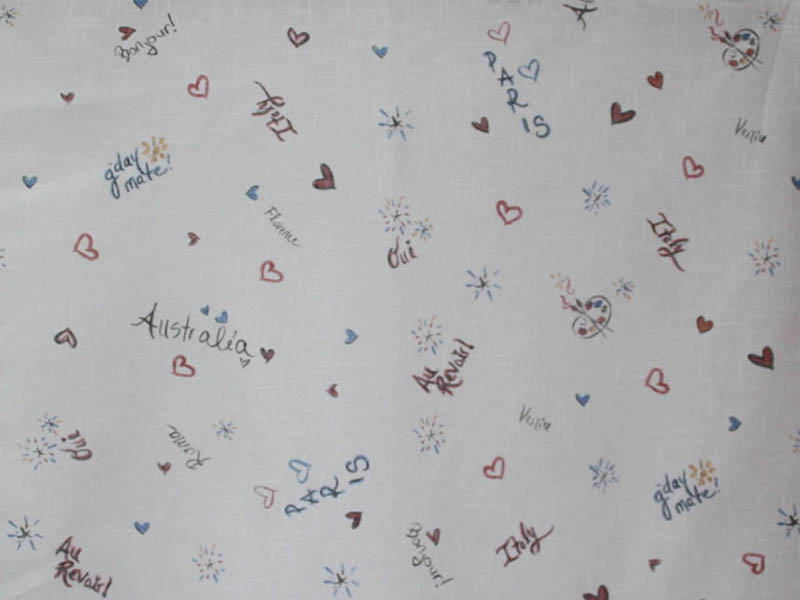 Печатные ткани - Простая печать на ткани miss-441-vrc