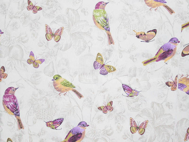 Печатные ткани - Простая печать на ткани pajaritos-unico