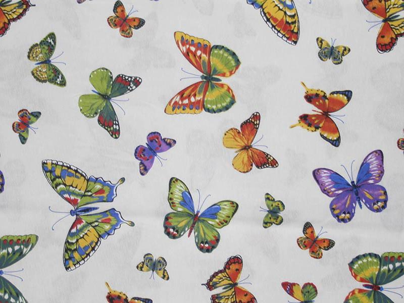 Печатные ткани - Простая печать на ткани mariposas-unico