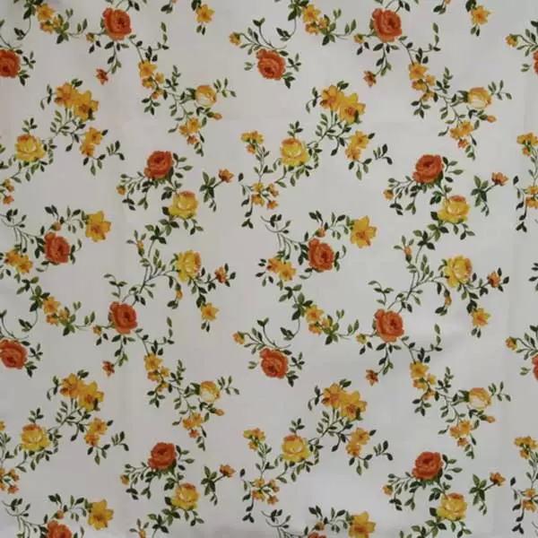 Летние итальянские ткани по оптовым ценам в Москве Лето Испании - andrea-coord-satin-poly-orange