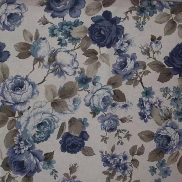 Летние итальянские ткани по оптовым ценам в Москве Лето Испании - breton-culla-blue-4