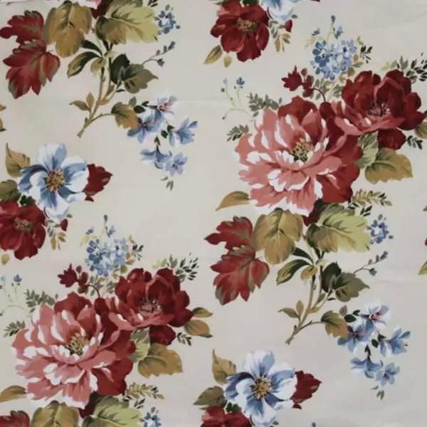 Летние итальянские ткани по оптовым ценам в Москве Лето Испании - oxford-panama-red