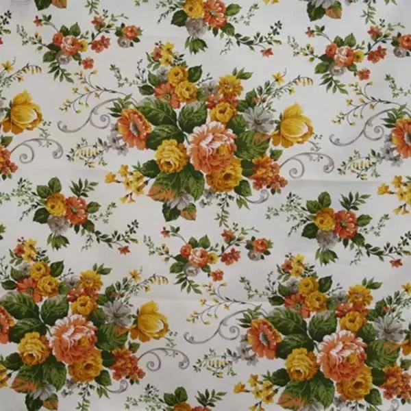 Летние итальянские ткани по оптовым ценам в Москве Лето Испании - andrea-satin-poly-orange