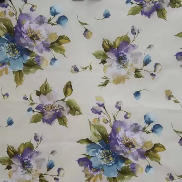 Летние итальянские ткани по оптовым ценам в Москве Лето Испании - martina-printed-lo-blue