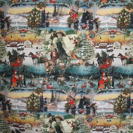 Новогодние ткани - 2016 по оптовым ценам и большой картой цветов на складе в Москве - merry-vintage-verde