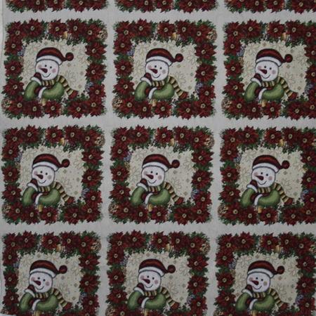 Новогодние ткани - 2016 по оптовым ценам и большой картой цветов на складе в Москве - f-6330