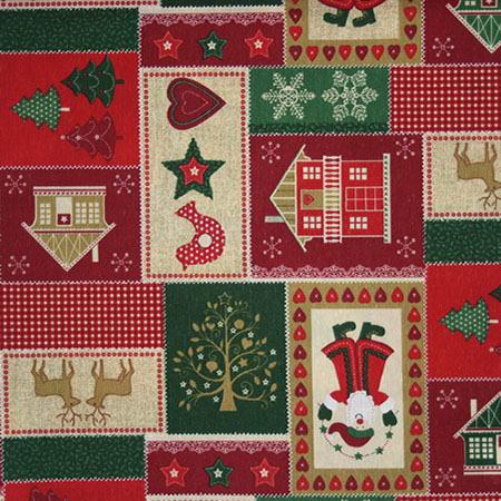 Новогодние ткани - 2016 по оптовым ценам и большой картой цветов на складе в Москве - natividad-verde