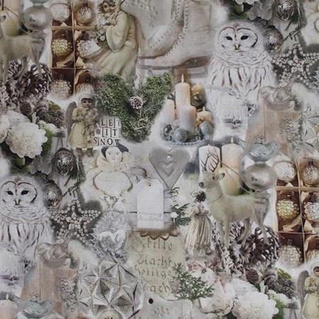 Новогодние ткани - 2016 по оптовым ценам и большой картой цветов на складе в Москве - 8017