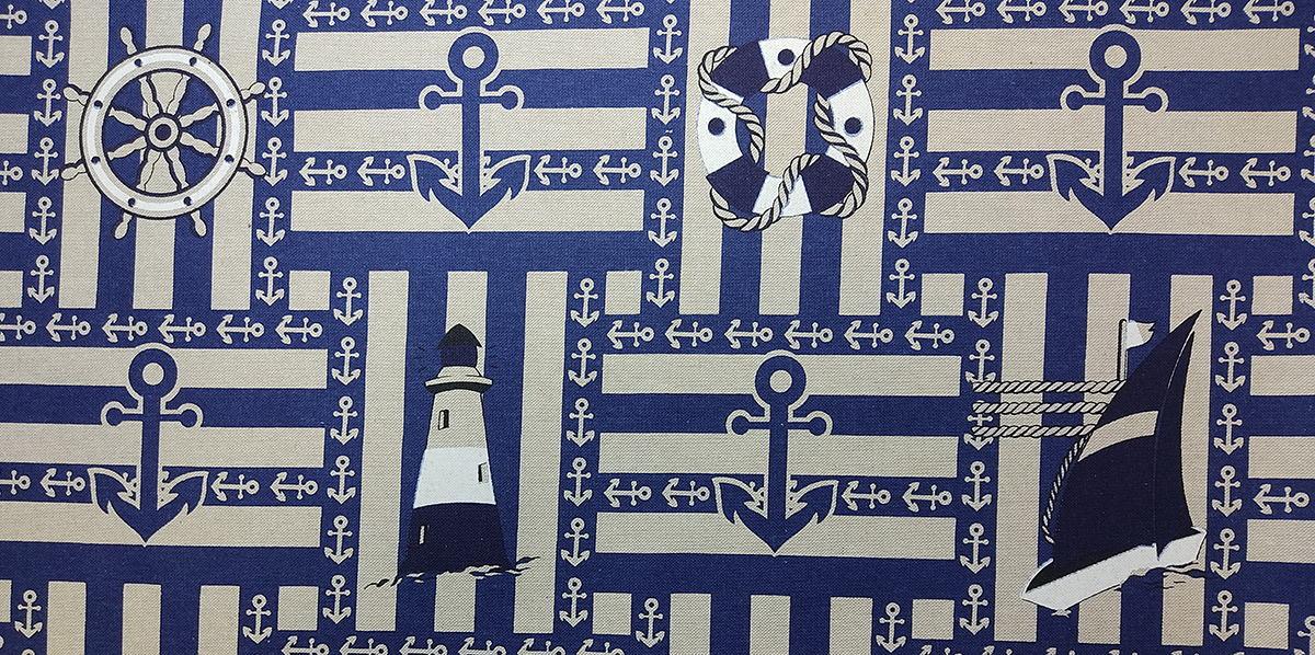 Печатные ткани - Простая печать на ткани culla-ancla-col.-unic